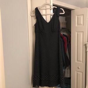 Loft - Black and White Polka Dot Dress Size 8